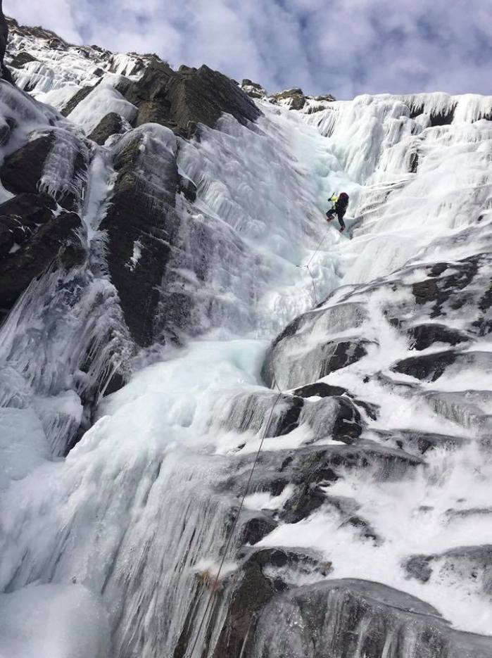 ice climbing Tuckerman Ravine