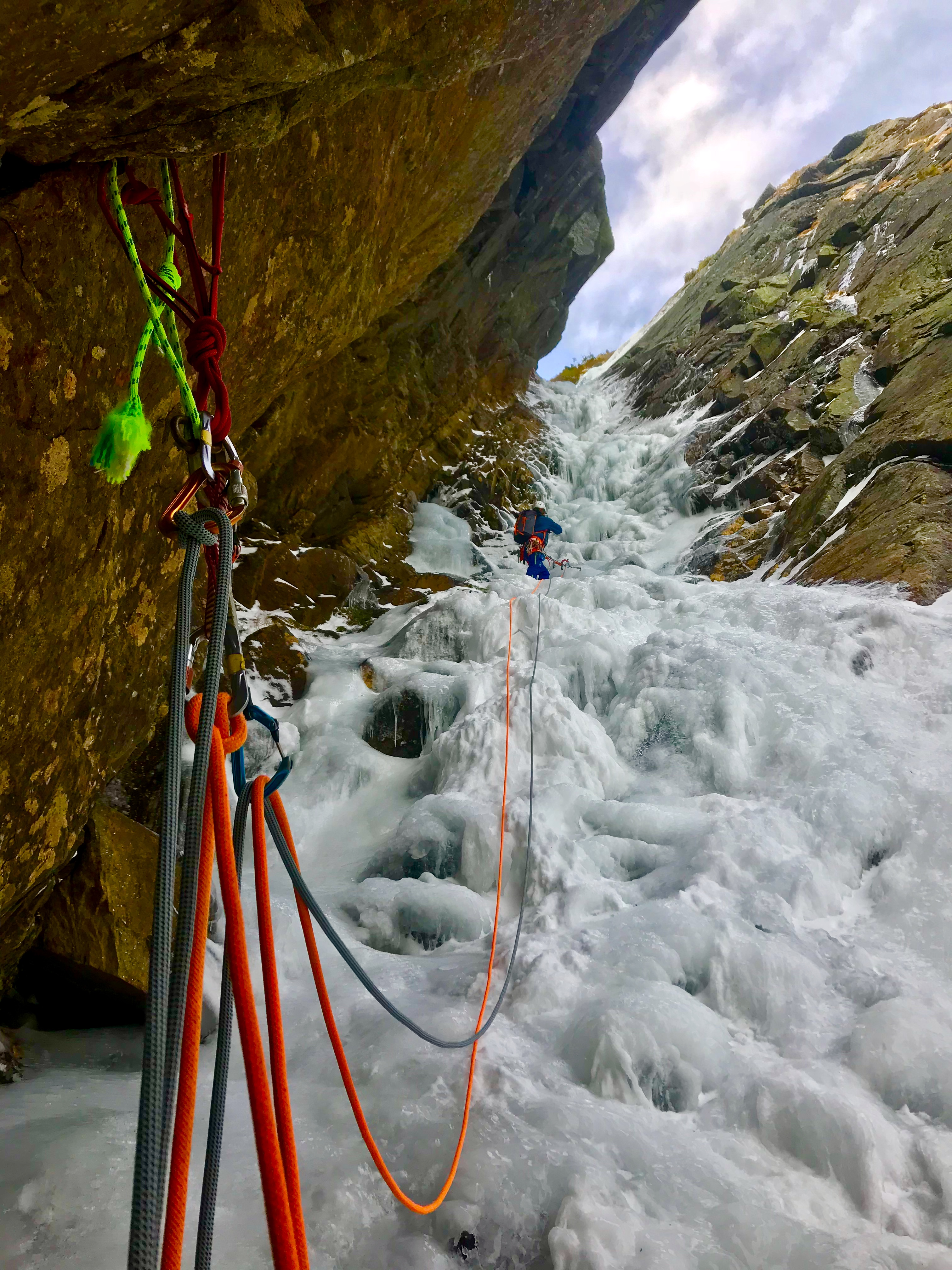 Ice Climbing Pinnacle Gully