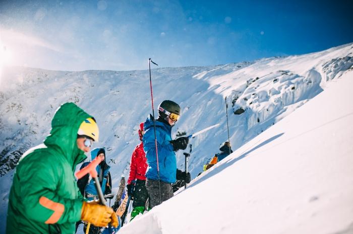 Avalanche course in Tuckerman Ravine