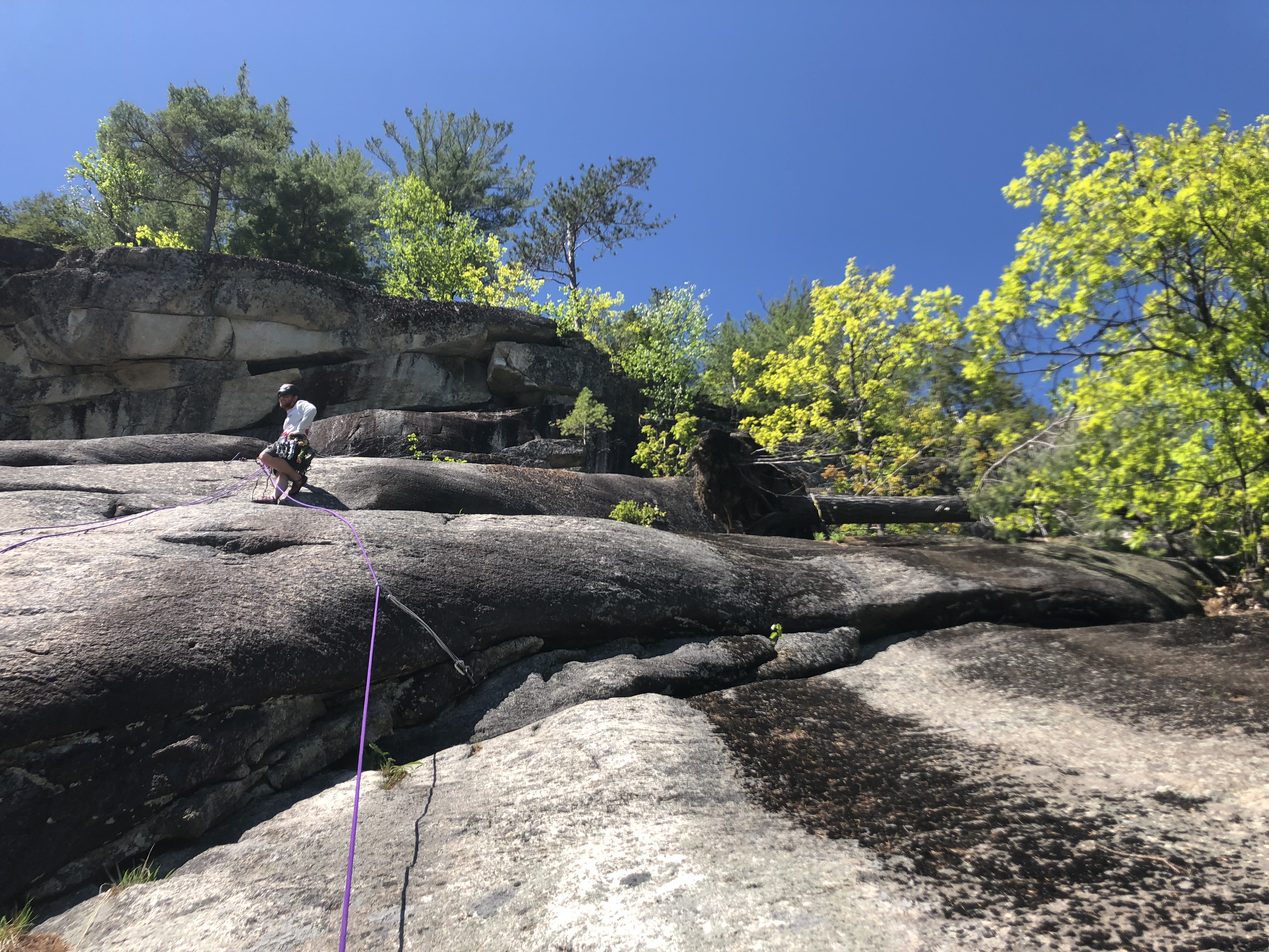 rock climbing Whitehorse Ledge