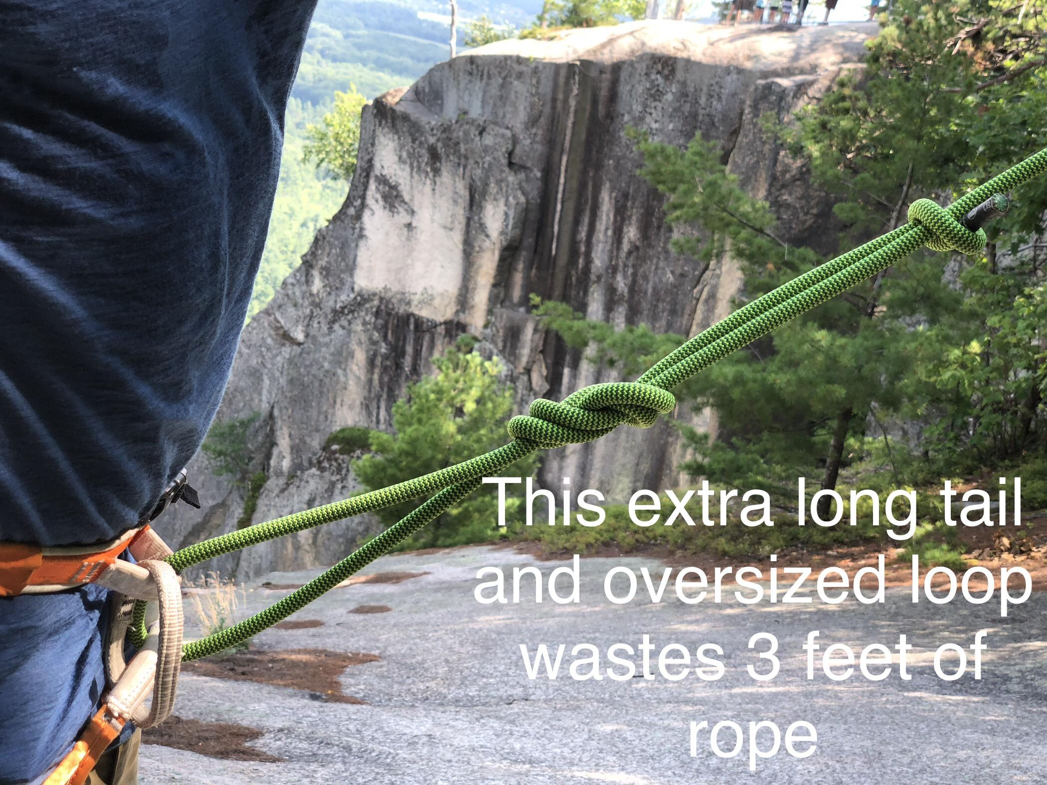 Tying into climbing rope