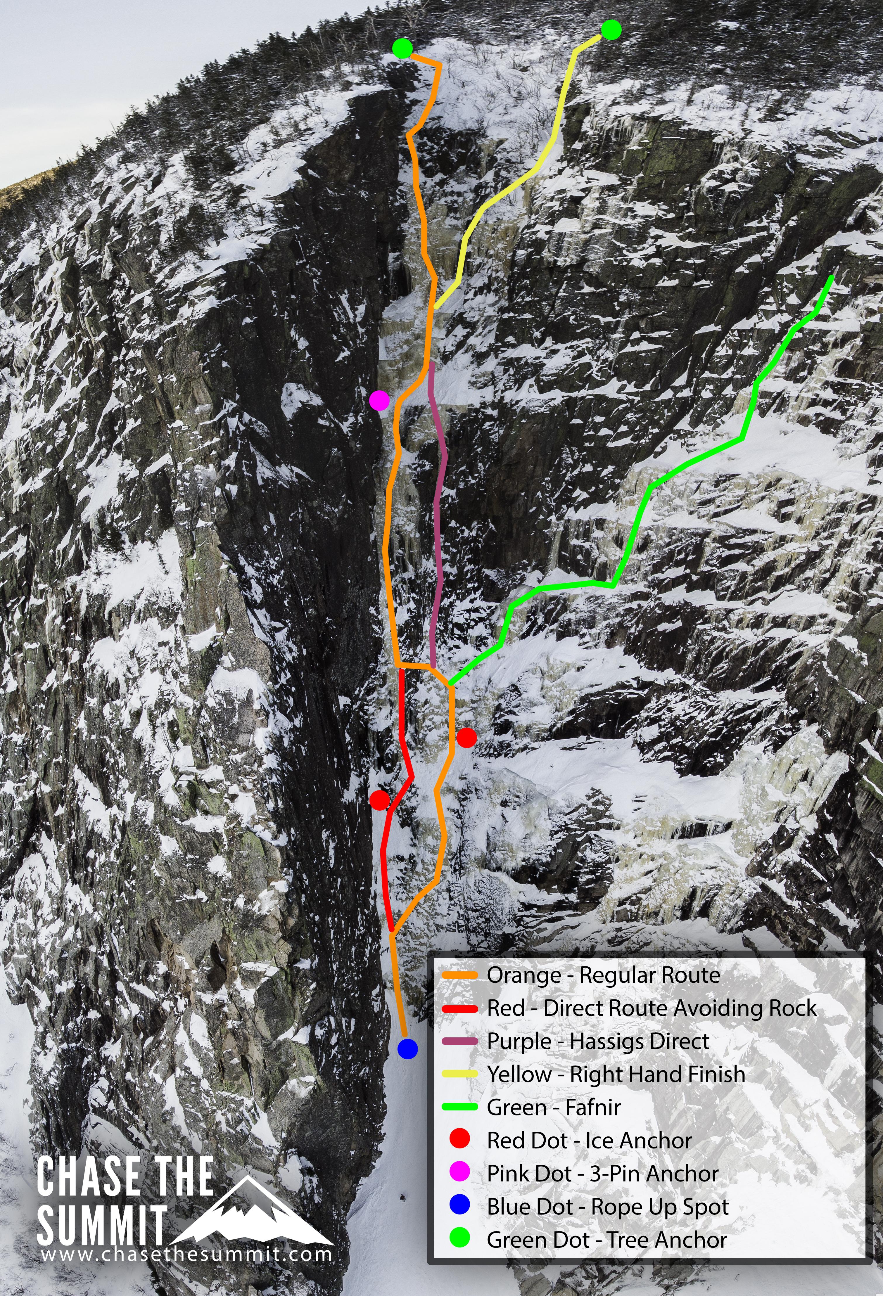 Black Dike Photo Topo Ice Climbing