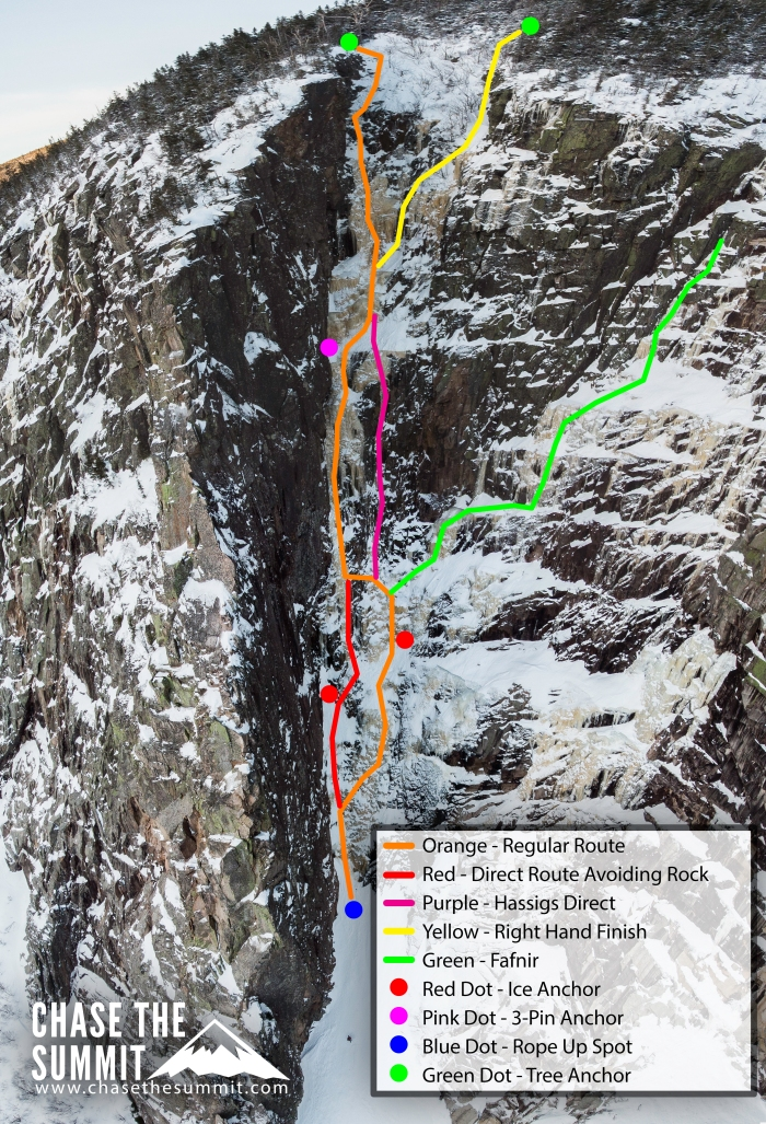 Black Dike Photo Topo Ice Climbing