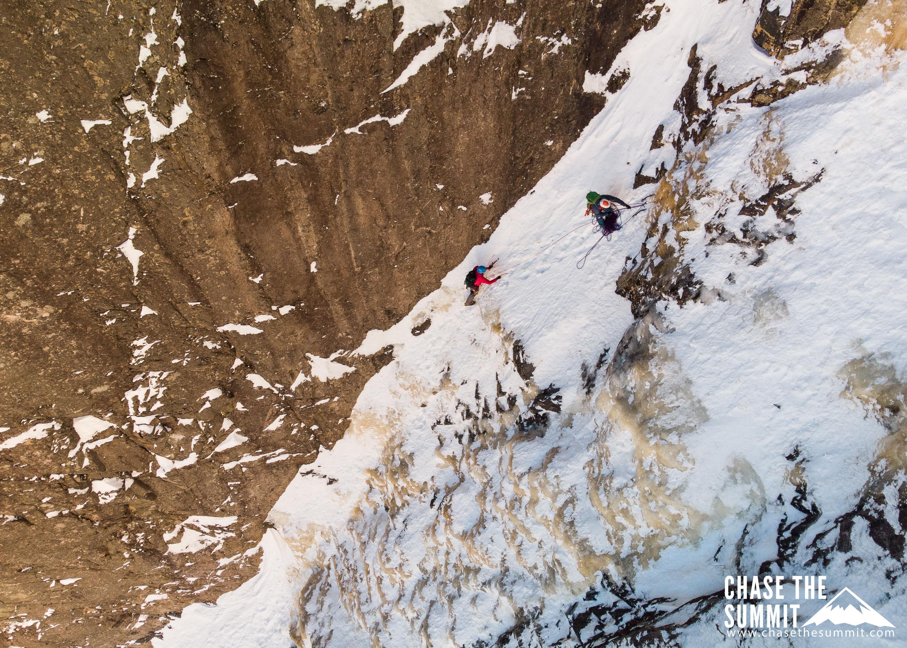 Ice climbing the Black Dike
