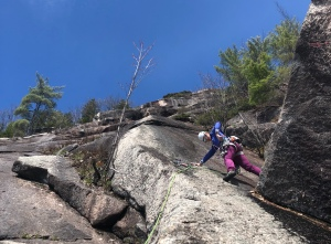 rock climbing White Ledge